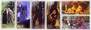 Set of six gummed stamps: Fellowship