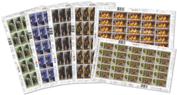 Complete set of Fellowship gummed stamps sheet - 150 stamps
