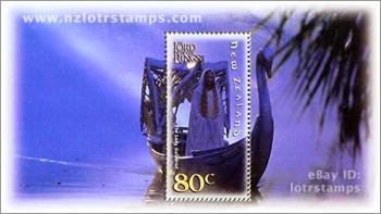 80 cent stamp design: the iconic Galadriel is the one figure who truly tests Frodo