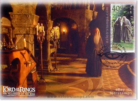 40 cent postcard design: Saruman seeks Sauron's power and must locate the One Ring to achieve it