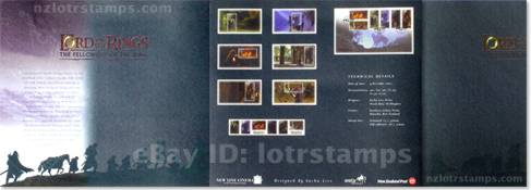 presentation pack cover has info on first day cover, self-adhesive stamps, miniature stamp sheets and movie