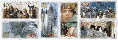 Set of six gummed stamps: Two Towers