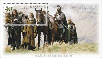 40 cent stamp design: Aragorn and Eowyn