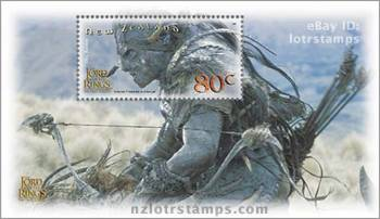 80 cent stamp design: Orc Raider - an evil cross bred of men and elven bloodlines