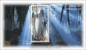 90 cent stamp design: Thought killed the wizard is reborn as Gandalf the White