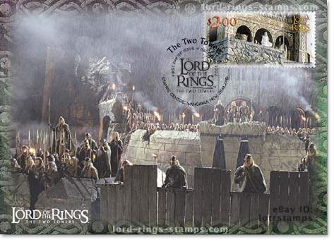 2.00 dollar postcard design: Mountain redoubt of Helm's Deep
