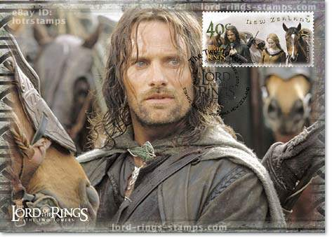 40 cent postcard design: Aragorn defends the Keep at Helm's Deep