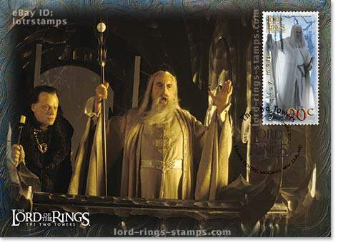 90 cent postcard design: the evil duo of Saruman and Wormtongue