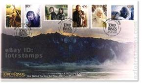 First day cover with six gummed stamps and November 5, 2003 cancellation postmarks