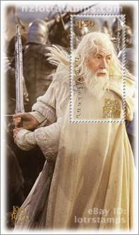 1.50 dollar stamp: Gandalf fighting wizard