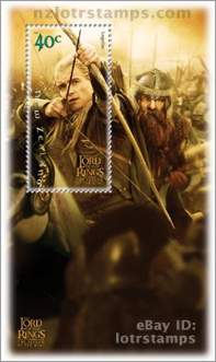40 cent stamp: Legolas lets and arrow fly
