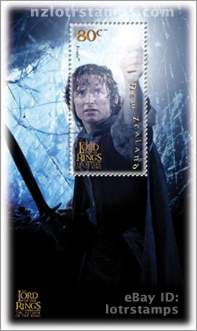 80 cent stamp: Frodo Baggins enters Shelob's Lair