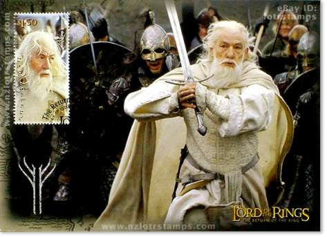 1.50 dollar postcard design: Gandalf the White
