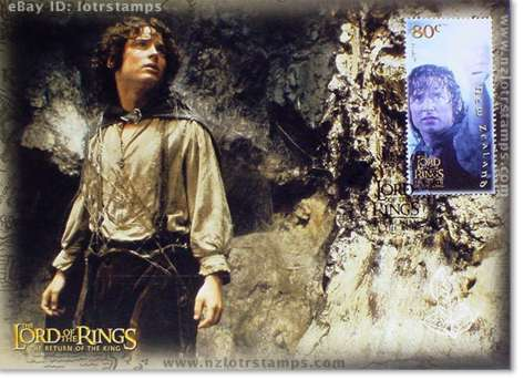 80 cent postcard design: Frodo Baggins in Mordor