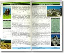 Lord of the Rings Movie Location Guide two page spread